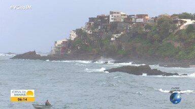 Previsão do tempo: Salvador e outras cidades baianas têm chuva nesta terça-feira - Confira também as fotos do quadro 'Amanhecer' e a tábua de marés.