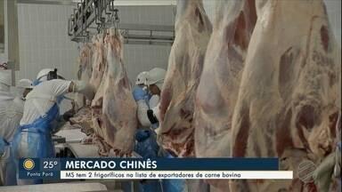 MS tem 2 frigoríficos na lista de exportadores para China de carne bovina - Mercado Chinês: MS tem 2 frigoríficos na lista de exportadores de carne bovina.