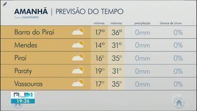 Quarta-feira será de tempo firme e calor no Sul do Rio de Janeiro - Meteorologia prevê dia sem chuva na região.