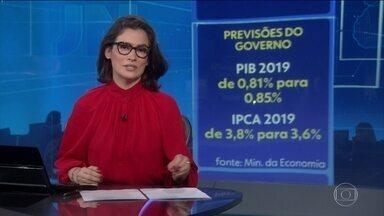 Governo eleva para 0,85% previsão de crescimento da economia brasileira - Ministério da Economia também corta estimativa para a inflação oficial do país de 3,8% para 3,6%