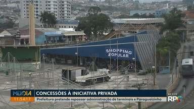 Prefeitura pretende repassar administração de terminais e shopping popular, em Ponta Gross - Os espaços podem ser repassados para a iniciativa privada através de concessões.