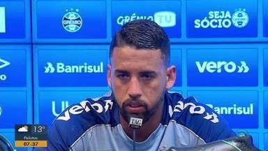 Com desfalques, Grêmio se prepara para partida contra o Goiás no fim de semana - Assista ao vídeo.
