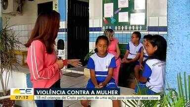 Ação educativa alerta para o combate a violência contra a mulher no Cariri - Saiba mais em g1.com.br/ce