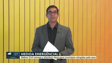 Defesa Civil distribui água para municípios atingidos pela seca em Minas Gerais - A medida emergencial beneficiará cerca de 93 mil pessoas no Estado.