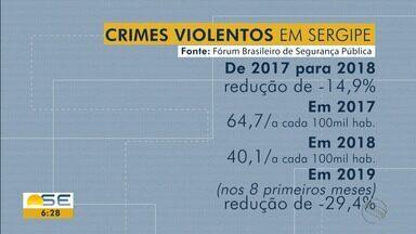 Sergipe foi o terceiro estado do país que mais reduziu os latrocínios no ano passado - Além da redução dos latrocínios, os homicídios e roubos a veículos também tiveram queda nos números. Dados são do 13º Anuário de Violência de Segurança Pública.