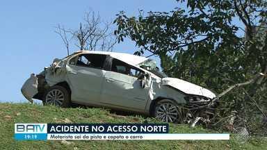 Destaques do dia: Duas pessoas ficam feridas após carro capotar em Salvador - Confira este e outros destaques da quinta-feira (12).