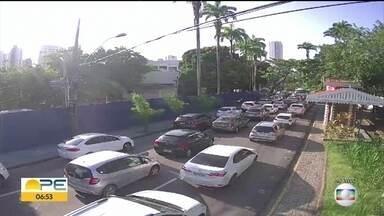 Obra interdita trecho da Avenida Rui Barbosa, na altura do Museu do Estado - Bloqueio começa às 20h desta sexta (13) e deve seguir até as 6h da segunda (16).