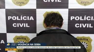 Homem é preso e confessa assassinato de mulher em Caxias do Sul - Mulher foi morta após assalto na quinta-feira (12).