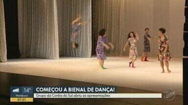 Estreia da 11ª Bienal de Campinas é marcada por vovós dançantes - O grupo da Coreia do Sul abriu as apresentações no Sesc. Nesta sexta-feira (13), é a vez do grupo Canto dos Malditos.