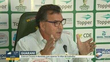 Estevam Soares é demitido com apenas 16 dias de trabalho no Guarani - O ex-diretor de futebol do Bugre deixou a posição nesta quinta-feira (12).