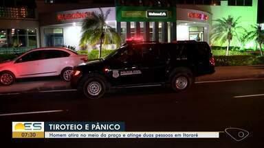Homem atira no meio da praça e atinge duas pessoas em Itararé, Vitória - Tiroteio causou correria e desespero.