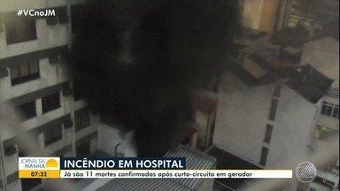 Incêndio causa a morte de 11 pessoas em hospital no Rio de Janeiro - Veja os destaques do noticiário nacional com Juliana Cavalcante.