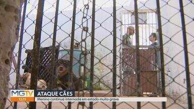 Menina atacada por cães continua internada em estado muito grave - Ela foi atacada em Pará de Minas, na região Central, e está internada no Pronto-Socorro do Hospital João XXIII