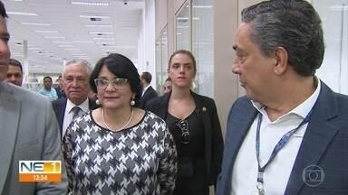 Ministra Damares Alves cumpre agenda em Pernambuco - Titular da pasta da Mulher, Família e Direitos humanos anunciou projetos para as mulheres.