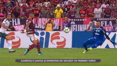 """Flamengo e Santos se enfrentam na """"decisão"""" do primeiro turno do Campeonato Brasileiro - Flamengo e Santos se enfrentam na """"decisão"""" do primeiro turno do Campeonato Brasileiro"""