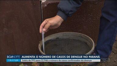 Número de casos de dengue cresce muito no Paraná - O aumento foi de quase 22 mil casos em um ano.