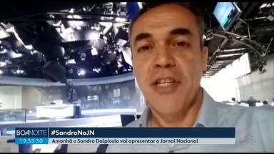 Sandro Dalpícolo apresenta o Jornal Nacional neste sábado (14) - Ele vai dividir a bancada com a apresentadora do Amazonas Luana Borba.