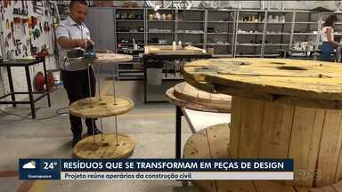 Projeto transforma resíduos em peças de design - Grupo de operários da construção civil é responsável pela criação.