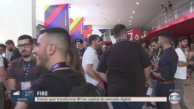 'Fire' termina neste sábado em Belo Horizonte - Evento reúne as grandes da internet no Palácio das Artes, em BH.