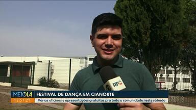 Cianorte realiza festival de dança - Programação inclui atividades pra comunidade.
