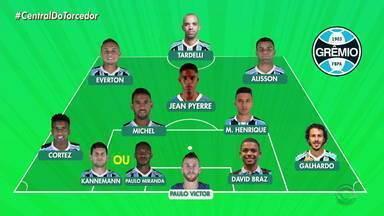 Veja provável escalação do Grêmio para o jogo contra o Goiás - Assista ao vídeo.