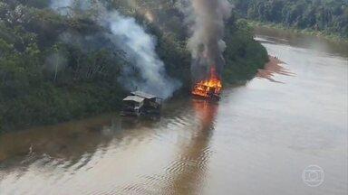 Força-tarefa destrói 60 garimpos ilegais no estado do Amazonas - Os garimpos ficavam no Vale do Rio Javari, que concentra o maior número de tribos isoladas, do mundo.
