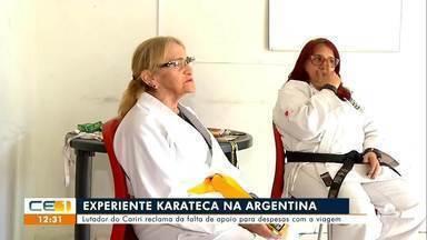 Lutadora do Cariri reclama da falta de apoio para despesas em competição - Saiba mais em g1.com.br/ce
