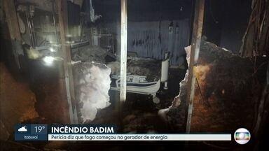 Perícia diz que fogo no Hospital Badim começou no gerador de energia - O incêndio matou 11 pessoas na sexta-feira. Imagens mostram como ficou o hospital por dentro após a tragédia.