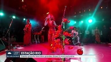 Letrux e Vanessa da Matta se apresentam hoje no Estação Rio, na Zona Portuária - As apresentações são uma promoção da Globo.