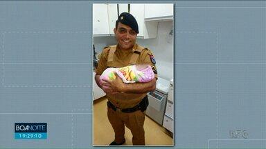 Bebê abandonada ganhou nome de Clara Vitória - Pm que encontrou a menina em um terreno baldio quer adotar a criança.
