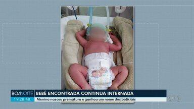 Bebê em encontrado em caixa de sapatos na região de Cascavel - Menina nasceu prematura e ganhou um nome dos policiais.