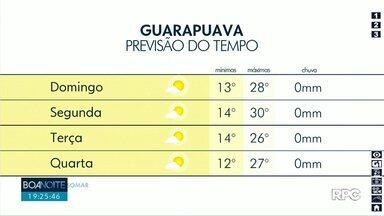 Domingo deve ser de sol nas cidades da região - As temperaturas também ficam elevadas.
