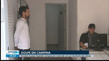 Homem é preso suspeito de se passar por juiz para fazer compras, em Campina Grande - Ele foi detido quando tentava retirar as mercadorias no nome do magistrado Gustavo Lyra, diretor do fórum da comarca de Campina Grande.