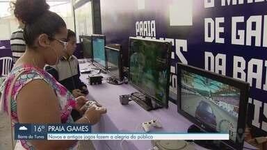 Novos e antigos jogos fazem a alegria do público no Praia Games - Evento acontece em Praia Grande.
