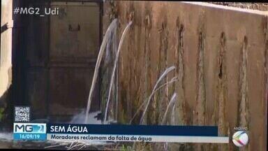 Dmae tenta evitar racionamento de água em Uberlândia e pede ajuda da população - Prefeitura reconhece pior crise desde 2014. No final de semana, seis bairros tiveram abastecimento afetado. Duas estações terão capacidade de captação aumentada.