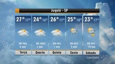 Confira a previsão do tempo para esta terça-feira (17) - Dia promete ser de sol e temperaturas amenas.