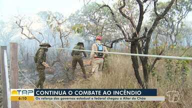 Trabalhos para combater Incêndio na APA Alter do Chão continuam - Aeronaves do governo do Estado e do Exército Brasileiro foram enviadas para reforçar a ação dos brigadistas.
