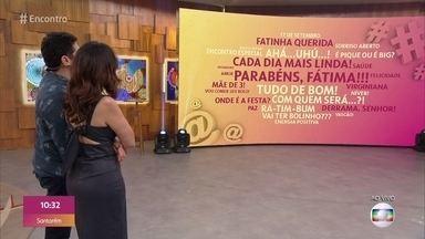 Hoje é aniversário da Fátima Bernardes - Nuvens de Palavras vira cartão virtual