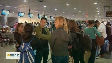 Neblina causa cancelamento e atraso de voos no aeroporto de Manaus - Fenômeno que encobriu Manaus teve impacto no Aeroporto Internacional Eduardo Gomes, na Zona Oeste. Cinco voos foram afetados.