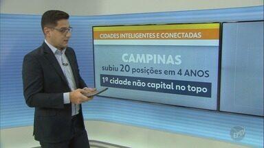 """Ranking coloca Campinas como cidade mais inteligente e conectada do Brasil - Em quatro anos, cidade subiu 20 posições no """"Ranking Connected Smart Cities""""."""