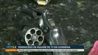 Idoso é preso suspeito de matar a esposa de 79 anos - Um crise de ciúmes teria motivo o crime registrado em Londrina.