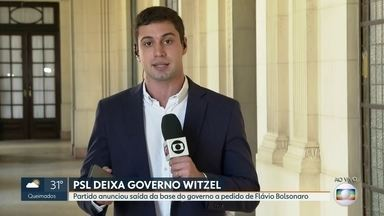 PSL deixa Governo Witzel - O partido anunciou a saída da base do governo a pedido de Flávio Bolsonaro.