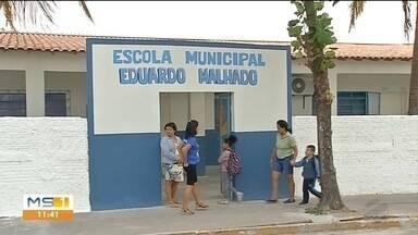 Prefeitura de ladário conclui obra de escola - Obra era para ter sido entregue em 2018