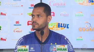 Jogador do Bahia, Elton, vai passar por cirurgia no joelho e ficar 45 dias sem jogar - Time tricolor se apresentou nesta terça-feira (17), no Fazendão.