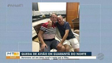 Pai e filho morrem em acidente de avião em Guarantã do Norte - Pai e filho morrem em acidente de avião em Guarantã do Norte