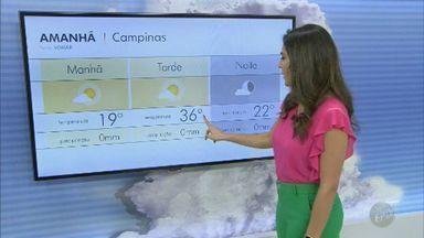 Confira a previsão do tempo para a região de Campinas nesta quarta-feira (18) - Temperaturas entre 18º C e 37º C podem ser registradas nas cidades.