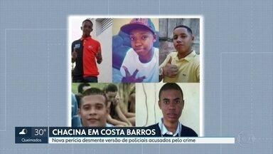 Nova perícia desmente versão de PMs acusados de chacina em Costa Barros - Os policiais militares são acusados de executar cinco jovens em Costa Barros há quatro anos.