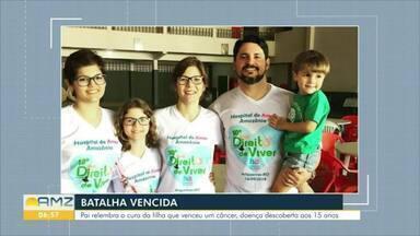 Pai conta como venceu batalha contra o câncer, doença sofrida por uma das filhas - Em Ariquemes, pai reforça a importância da prevenção do câncer infanto-juvenil