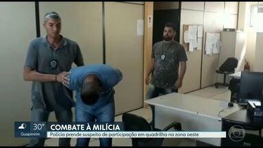 Polícia prende homem acusado de pertencer à milícia na zona oeste do Rio - Segundo as investigações, Fabiano Vieira da Rocha faz parte de um bando que age em Jacarepaguá e tem ligações com a quadrilha de Orlando Curicica.