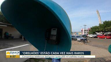 Orelhões ainda estão disponíveis para uso em bairros de Boa Vista - Aparelhos celulares dominaram a preferência do usuário.